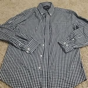 Nat Nast Mens Check Button Up Sz M Great